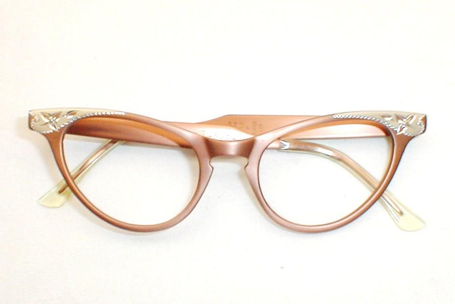 Womens vintage 50s 60s cat eye glasses eyeglasses combo for Art craft eyeglasses vintage