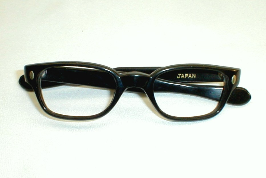 Eyeglasses Frame Japan : Vintage Mens Eyeglasses Frames Black US Optical