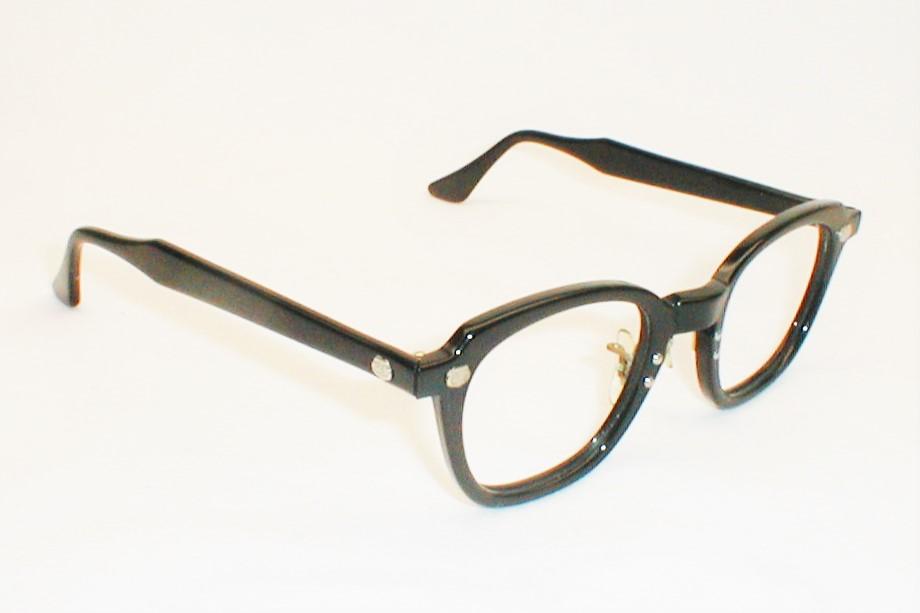 Large Frame Prescription Safety Glasses : Bausch & Lomb Vintage Horn-Rim Black Safety Eyeglasses