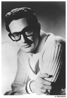 Buddy Holly in black glasses from FAOSA Mexico