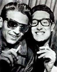 Buddy Holly in new FAOSA Glasses 1954