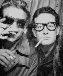 Buddy Holly and Waylon Jennings in FAOSA Eyeglasses 1954