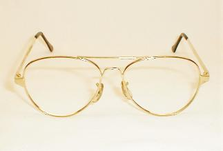 Large Gole 1970s Aviator Eye Glasses Frames