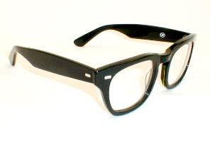 Thick Black Eyeglasses Frames for Men, 1950s style.  The Hornrim glasses