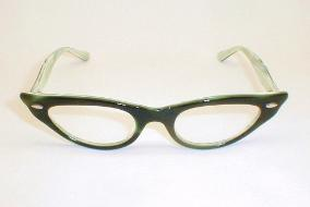 Green Vintage Cats Eye Glasses