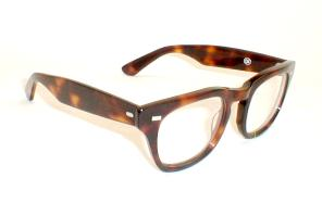 Mens 50s Glasses with thick Ray-Ban Wayfarer Temples, Tortoise Horn rimmed