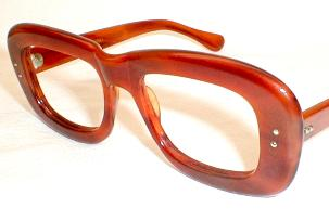 Thick toetoise eyeglasses made in Italy by Stenzel Optical 1960s.